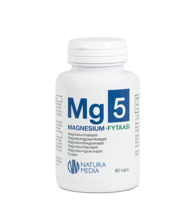 Natura Media Mg5 Magnesium+Fytaasi 80 kaps. ravintolisä