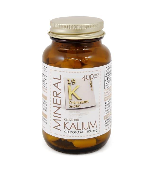 Mineral Kaliumglukonaatti 400 mg 100 tabl. ravintolisä