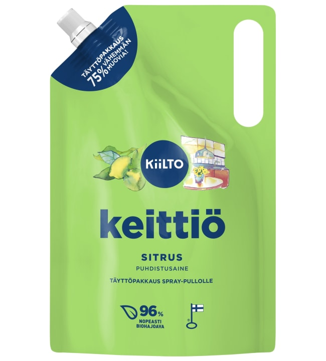 Kiilto Sitrus Keittiöpuhdistaja 1 l täyttöpakkaus spray-pullolle