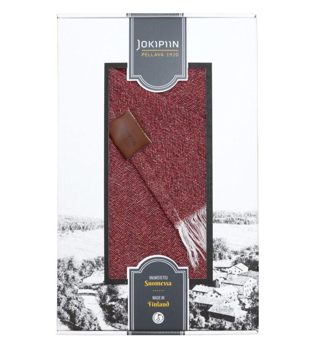 Jokipiin Pellava Graniitti tiilenpunainen 130x170 cm torkkupeitto