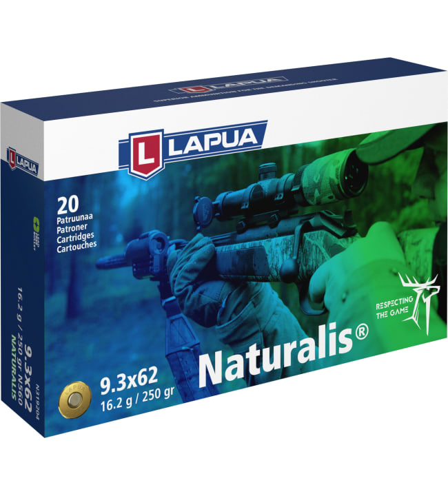 Lapua 9,3X62 Naturalis 16,2g N560 patruuna