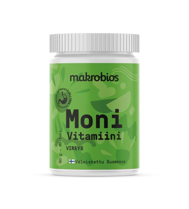 Makrobios Monivitamiini 90 tabl. ravintolisä