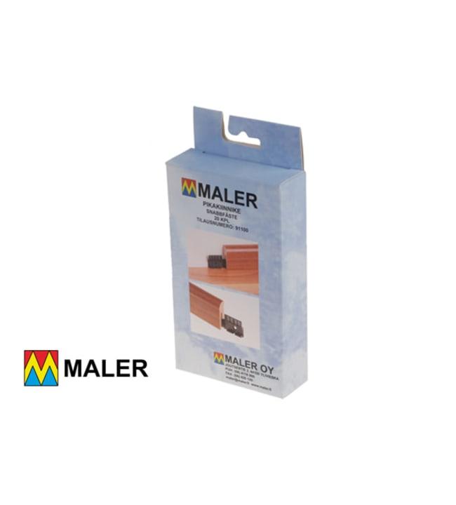 Maler 91100 musta muovinen pikakiinnike