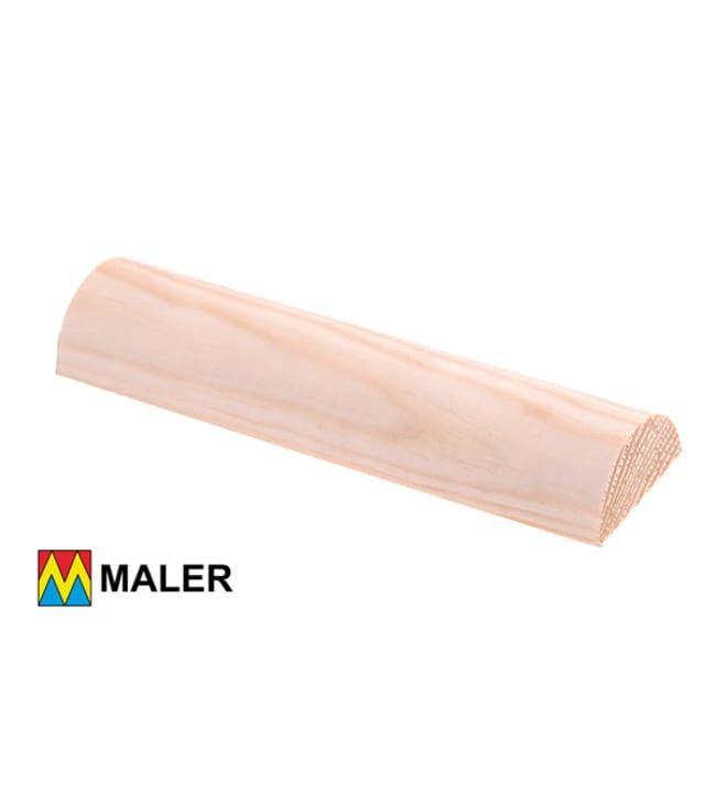 Maler 50604-1000 20x44x3000 mm puolipyöreä puuvalmis EM mänty lista