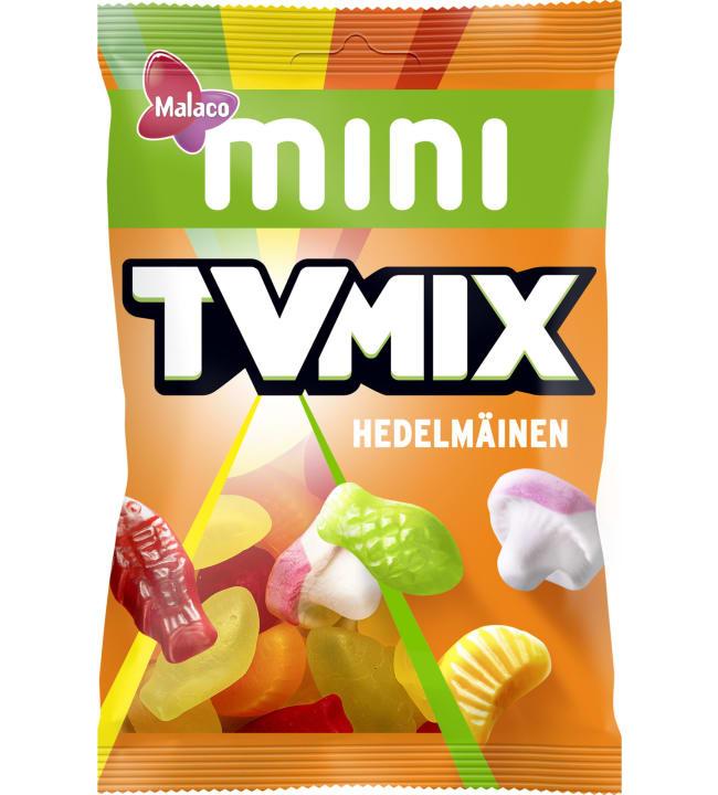 Malaco Mini Tv Mix Hedelmäinen 110 g karkkipussi
