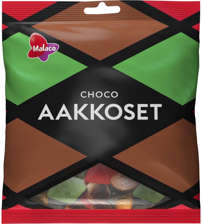 Malaco Aakkoset Choco 280 g karkkipussi