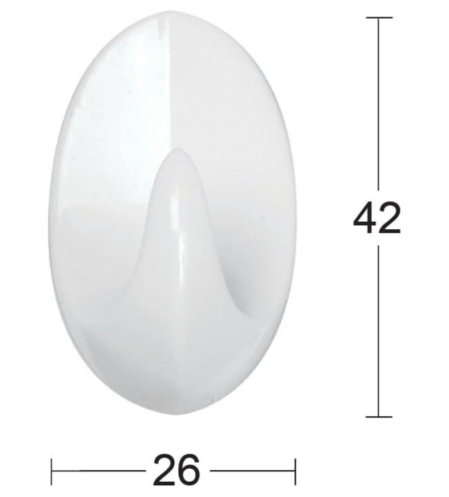 Habo 1041 3 kpl valkoinen muovi pyyhekoukku