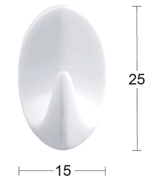 Habo 1045 6 kpl valkoinen muovi pyyhekoukku