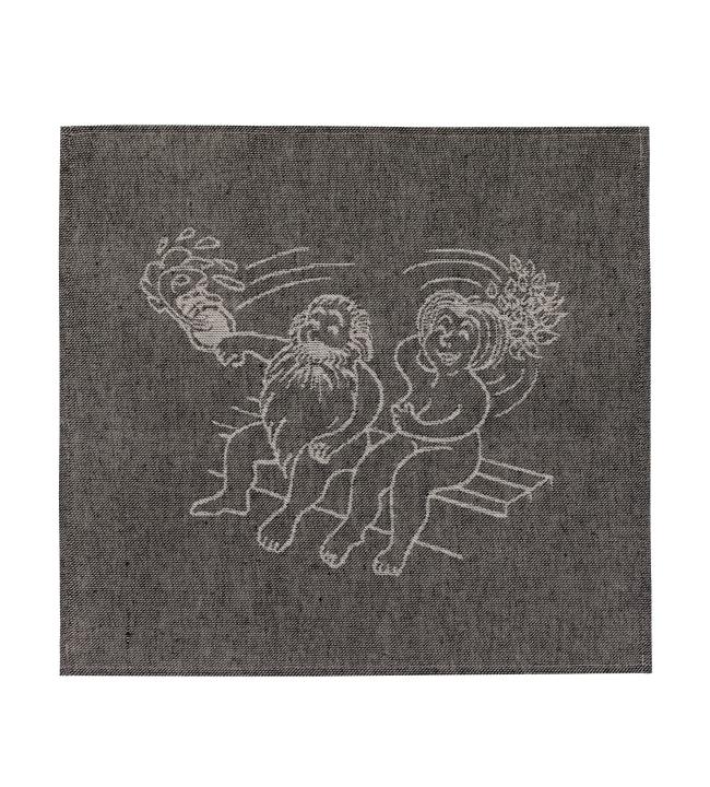 Alajärven Kotitekstiili Löylyssä musta 43x150 cm laudeliina