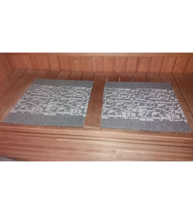 Alajärven Kotitekstiili Kaarna graniitti 43x50 cm pefletti