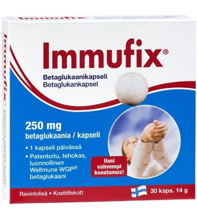 Immufix Betaglukaani 250mg 30 kaps. ravintolisä