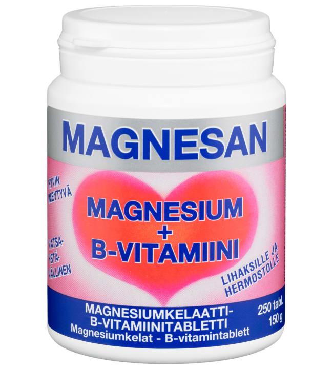 Magnesan Magnesium + B-vitamiini ravintolisä