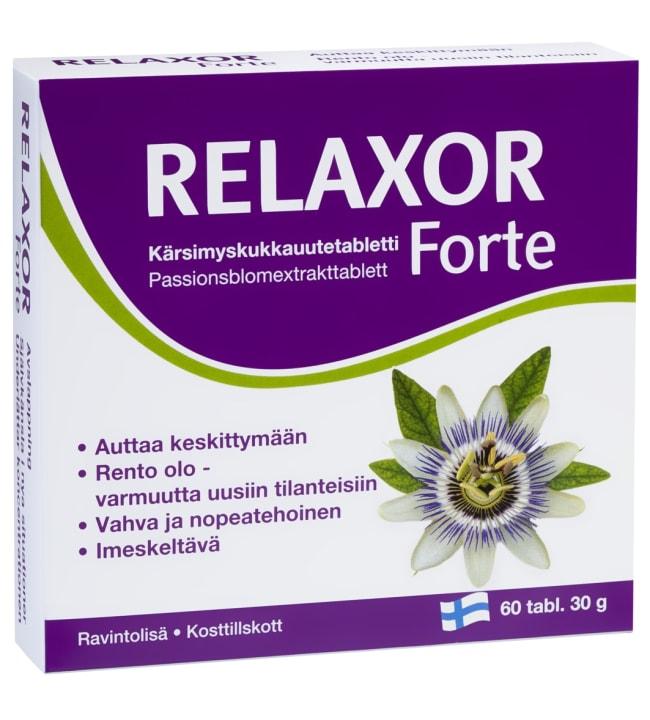 Relaxor Forte 60 kpl kärsimyskukkauutetabletti