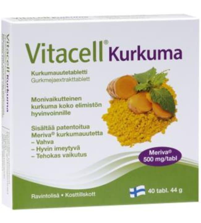 Vitacell Kurkuma 40 tabl/ 44g ravintolisä