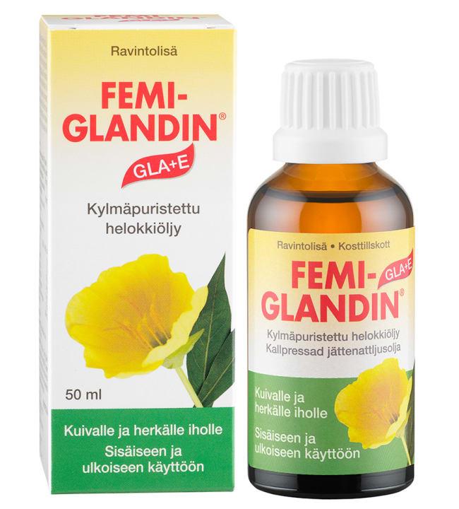 Femiglandin GLA+E 50 ml helokkiöljy