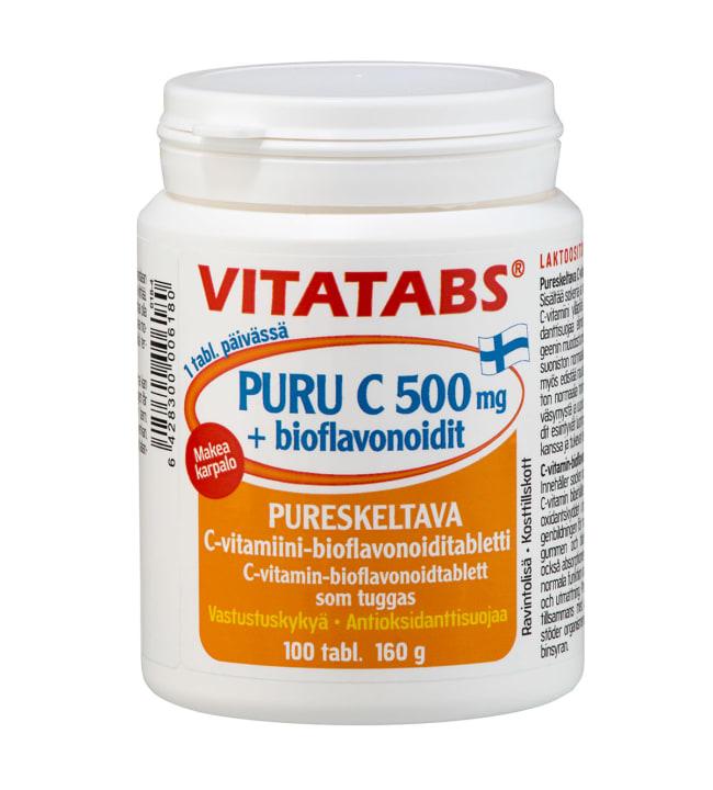 Vitatabs 500 mg Puru C + bioflavonoidit ravintolisä