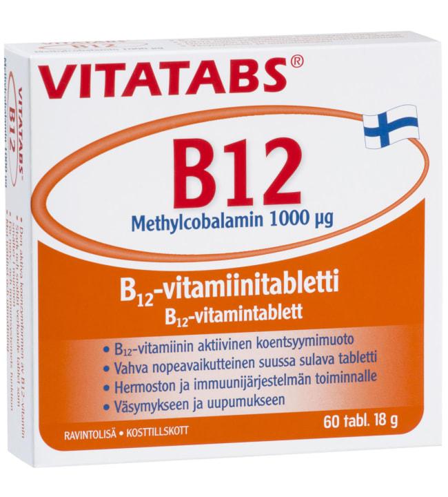 Vitatabs B12 Methylcobalamin 1000 µg 60 tabl. ravintolisä