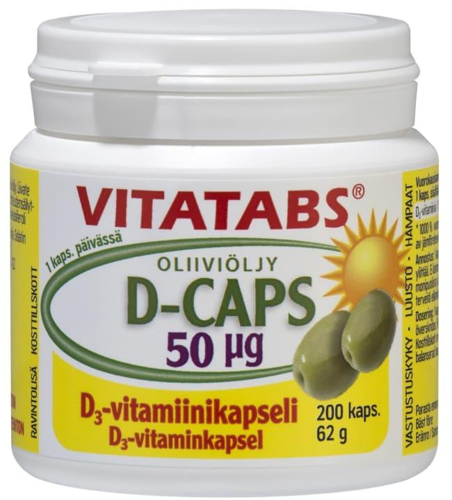 Vitatabs D-Caps 50 µg 200 kaps. ravintolisä