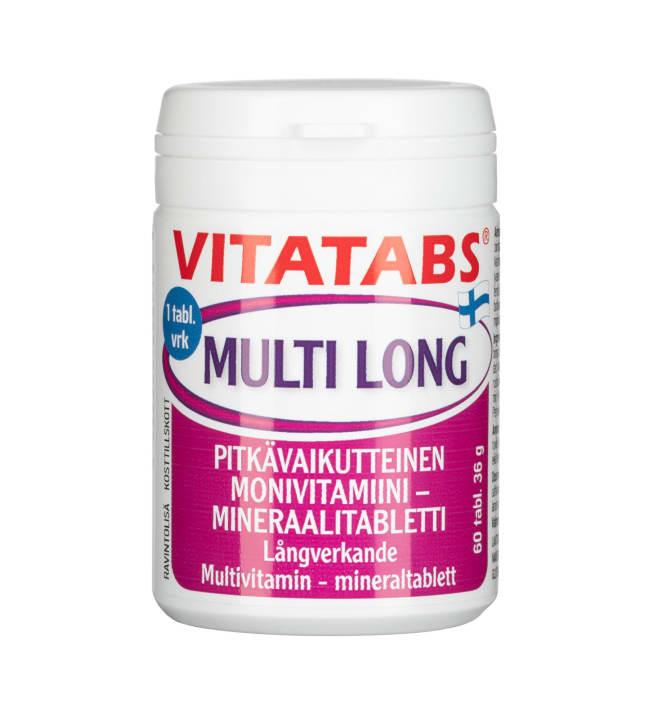 Vitatabs Multi Long monivitamiini 60 tabl ravintolisä