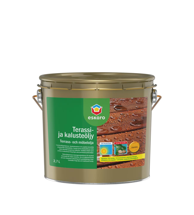 Eskaro ruskea terassi- ja kalusteöljy