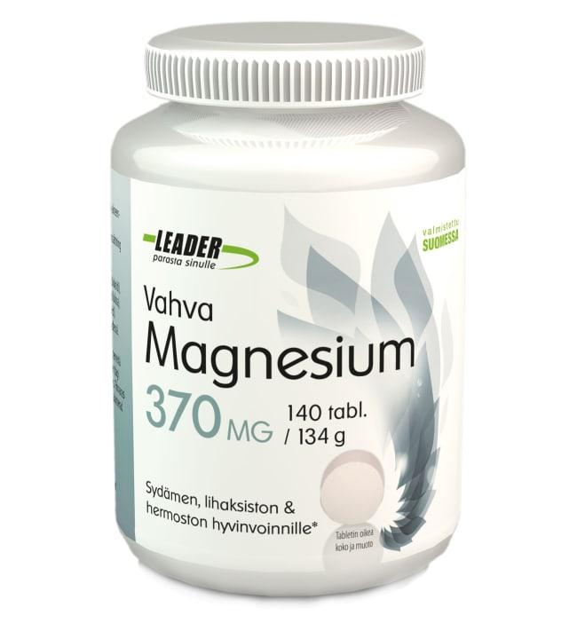Leader Vahva Magnesium 370 mg 140 tabl. ravintolisä