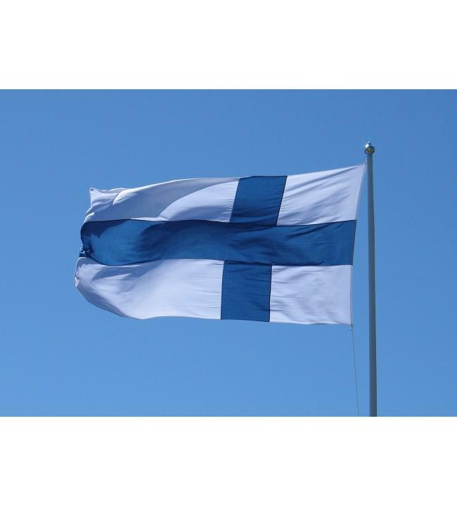 Plast 112x185 cm ( 7m tanko) Suomen lippu
