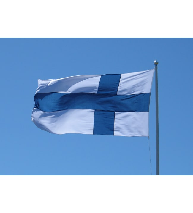 Plast 180x294 cm ( 11 m tanko) Suomen lippu