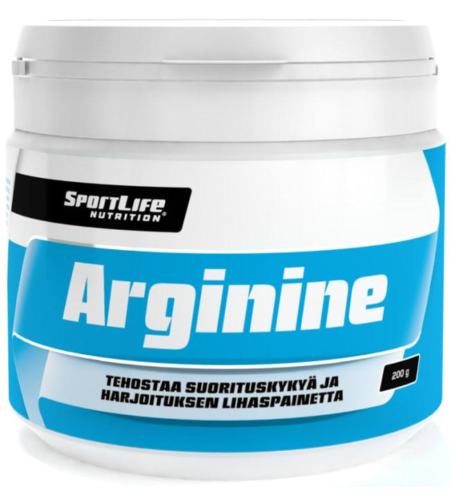 SportLife Nutrition Arginine 200 g L-arginiinijauhe