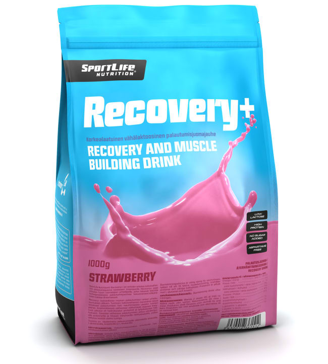 SportLife Nutrition Recovery+ Strawberry 1000 g palautusjuoma