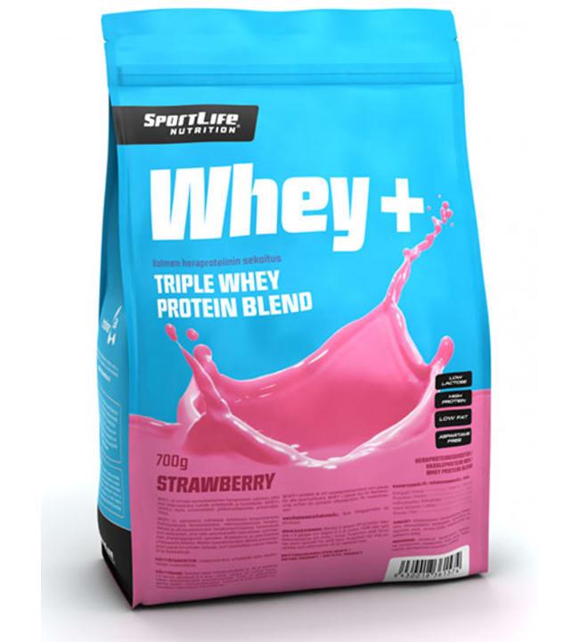 SportLife Nutrition Whey+ Mansikka 700 g heraproteiini