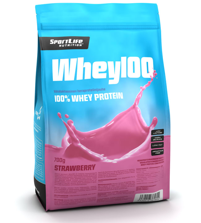 SportLife Nutrition Whey100 Strawberry 700 g heraproteiinijauhe
