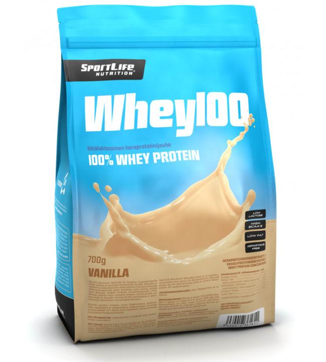 SportLife Nutrition Whey100 Vanilja 700 g heraproteiinijauhe
