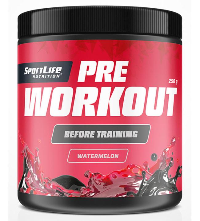 SportLife Nutrition Pre-Workout Watermelon 250 g latausjuoma
