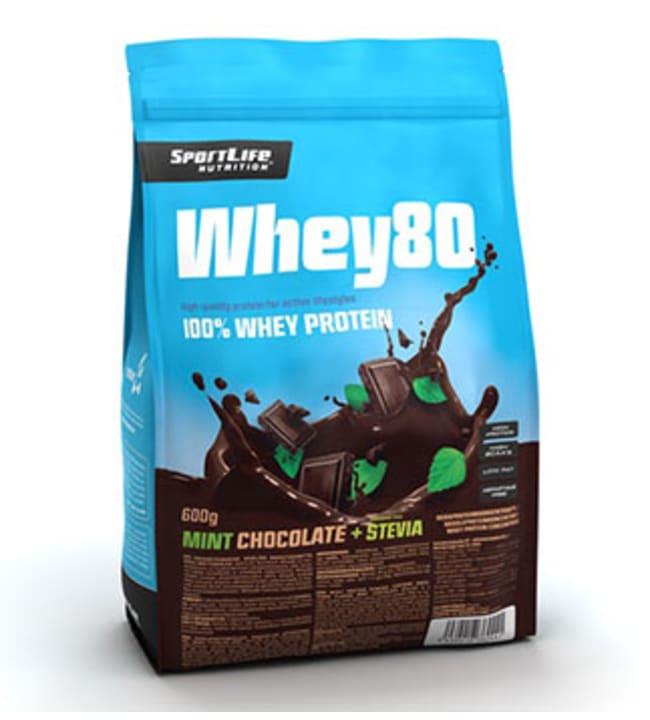 SportLife Nutrition Whey80 Minttusuklaa-Stevia 600 g heraproteiinijauhe