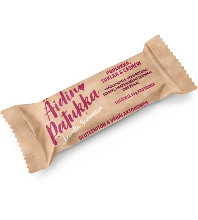Äidin Patukka Puolukka-Suklaa-Cashew 40 g välipalapatukka