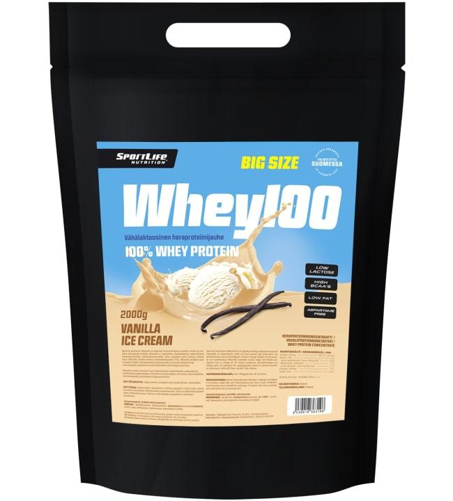 SportLife Nutrition Whey100 Vanilla Ice Cream 2 kg heraproteiini