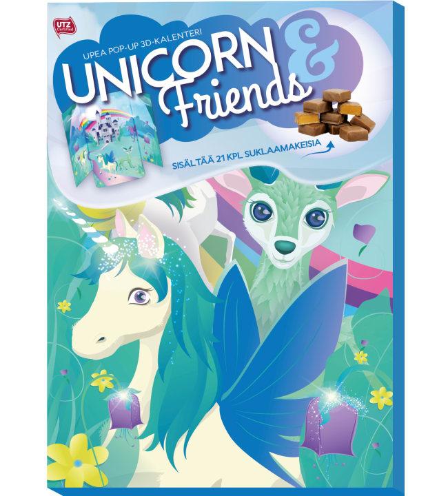 Unicorn pop-up 3D 175 g yllätysjoulukalenteri