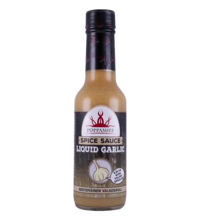 Poppamies Liquid Garlic 150 ml nestemäinen valkosipuli maustekastike