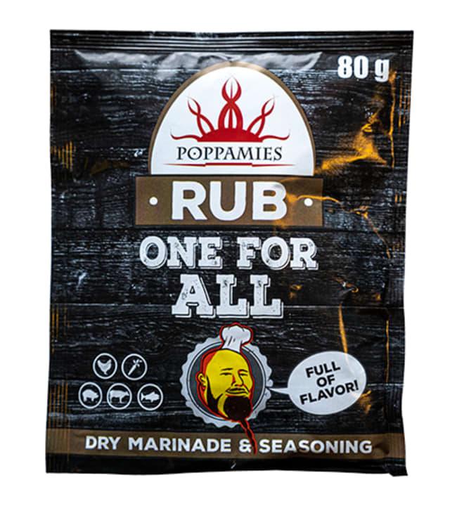 Poppamies One For All Rub&Seasoning 80 g rub-mauste
