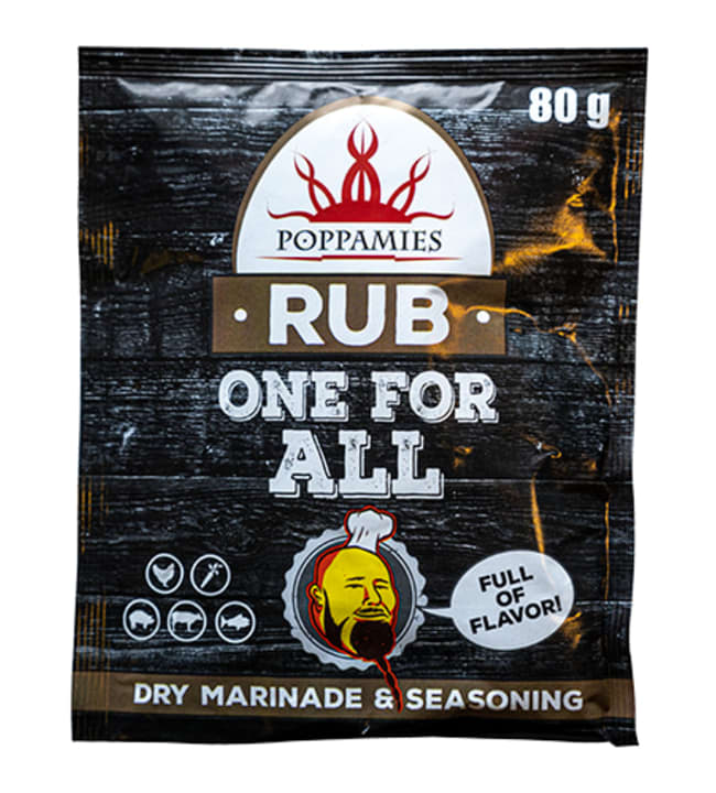 Poppamies One For All Rub&Seasoning 80 g yleisgrillimauste