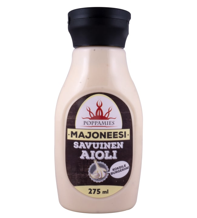Poppamies Savuinen Aioli 275 ml majoneesi