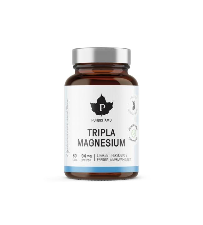 Puhdistamo Tripla Magnesium 60 kaps. ravintolisä