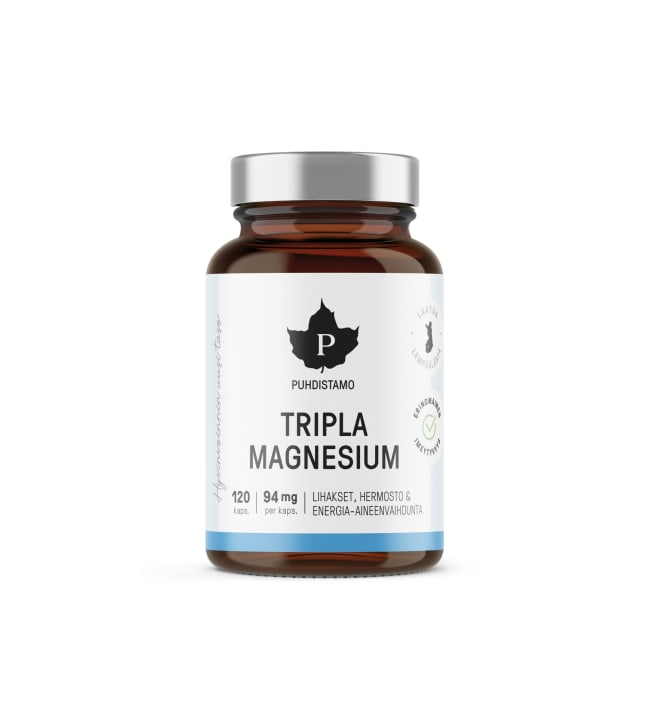 Puhdistamo Tripla Magnesium 120 kaps. ravintolisä