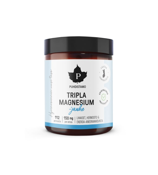 Puhdistamo Tripla Magnesiumjauhe 90 g ravintolisä