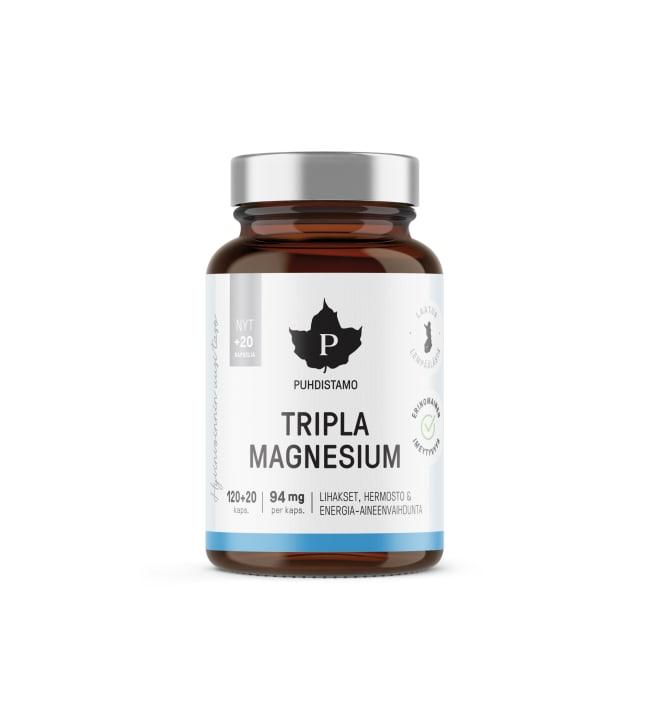 Puhdistamo Tripla Magnesium 120+20 kaps. ravintolisä