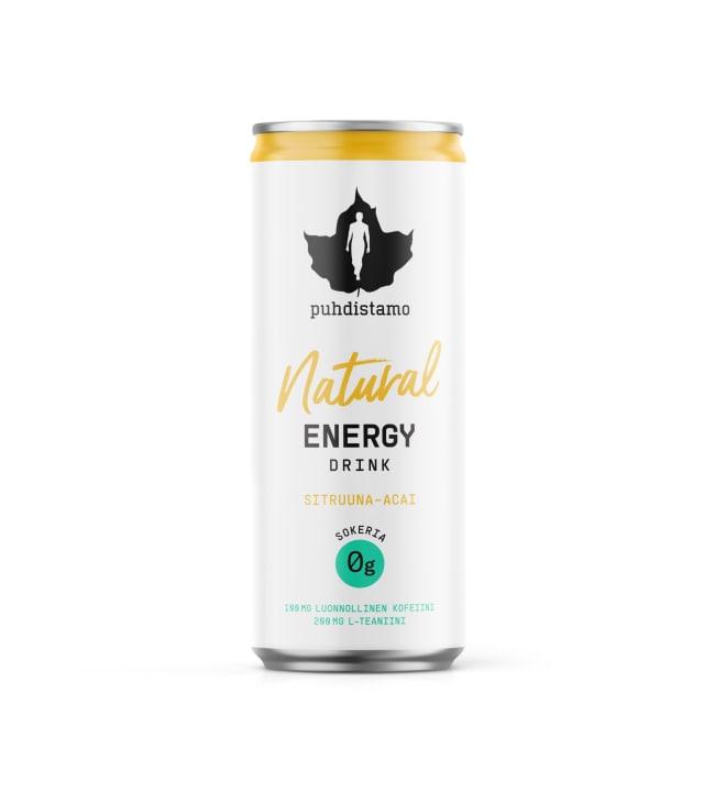 Puhdistamo sitruuna-acai 330 ml Natural energiajuoma