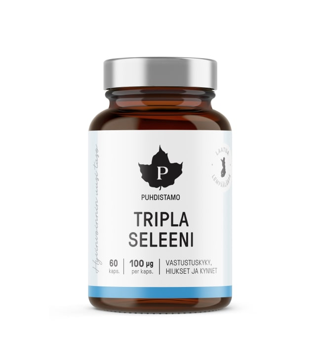 Puhdistamo Tripla Seleeni +E-Complex 60 kps ravintolisä
