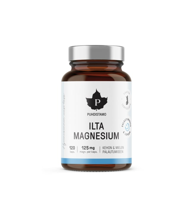 Puhdistamo Ilta Magnesium ravintolisä