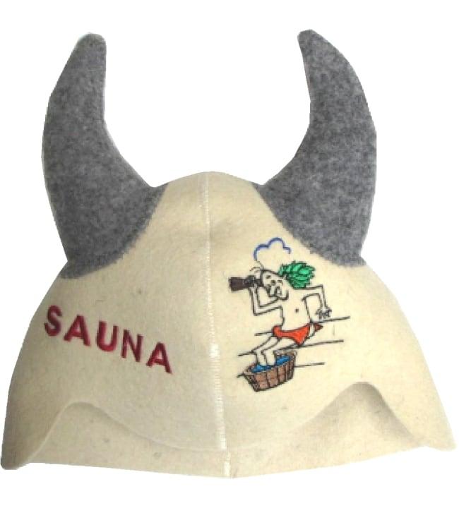 Suomen Tekstiili Huopana Sarvet saunahattu