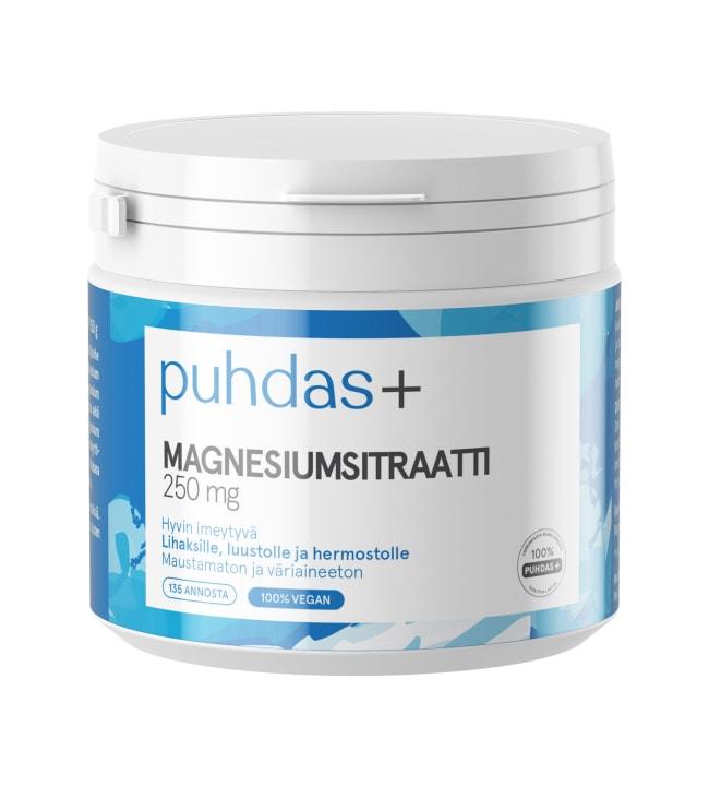 Puhdas+ 250-500 mg 150 g magnesiumsitraatti